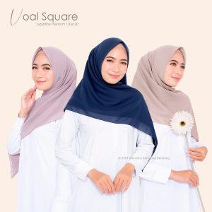 Hijab segiempat Voal Superfine premium